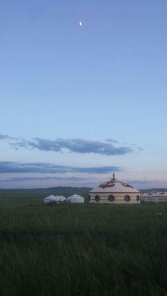 A traditional mongolian hut!