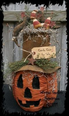 Primitive Wood Pumpkin Patterns | PatternMart.com ::. PatternMart: Primitive Halloween JOL Pumpkin ...