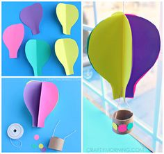 Spinning Hot Air Balloon Craft Template Spinning Heißluft Ballon Handwerk Vorlage von OneCraftyMorning The post Spinning Hot Air Balloon Craft Template appeared first on Toddlers Diy. Kids Crafts, Summer Crafts For Kids, Crafts For Kids To Make, Toddler Crafts, Spring Crafts, Preschool Crafts, Arts And Crafts, Crafts For Children, Hot Air Balloon Craft For Kids