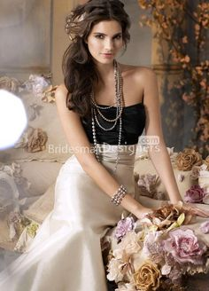 two-tone black silver formal #dress floor length #bridesmaid ball gown.     US$ 376.00 off US$189.28