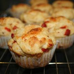 Red pepper and Parmesan savoury cupcakes