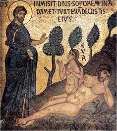 Creation of Eva, Mosaic, Medium Byzantium Palatina, Palermo, 1154-1166
