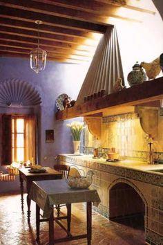 Mexican kitchen decoration [ MexicanConnexionforTile.com ] #kitchen #Talavera #Mexican