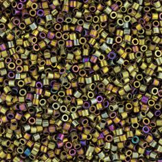 Size 15 Metallic Rainbow Nickel Plated Golden Delica Beads - DBS0029 | Fusion Beads