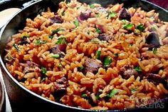 Receita de Arroz carreteiro em receitas de arroz, veja essa e outras receitas aqui!