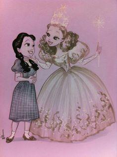 Dorothy and Glinda. Amy Mebberson