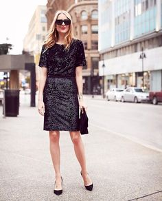 9ebea11fd9 Fashion Jackson teams up with Ann Taylor to share a holiday party outfit  idea. Sequins and velvet are perfect textures for the holiday season.