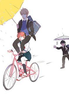 Sougo Okita x Kagura [OkiKagu], Gintama Manga Art, Manga Anime, Anime Art, Anime Kawaii, Kawaii Cute, Gintama, Hyouka, Okikagu, Cute Comics