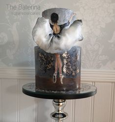 A stunning work of art, this cake is hand painted by inspired by the stunning photography… Dance Cakes, Ballet Cakes, Ballerina Cakes, Cute Cakes, Pretty Cakes, Gorgeous Cakes, Amazing Cakes, Fantasy Cake, Hand Painted Cakes
