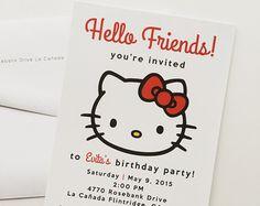 Hello Kitty Party Invitation by SRFortyThree on Etsy