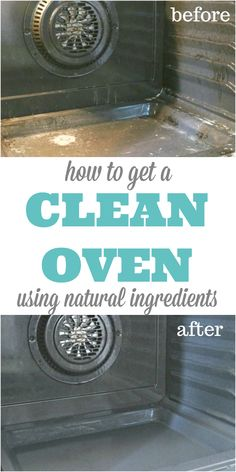 How to get a Clean Oven using all natural ingredients that can be found in your kitchen pantry.  via @Mom4Real
