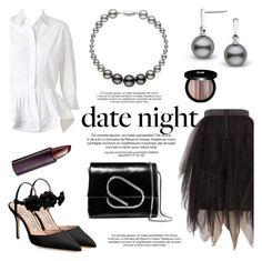 """Hot Date Night Style"" by pearlparadise ❤ liked on Polyvore featuring Melissa McCarthy Seven7, Alaïa, Manolo Blahnik, 3.1 Phillip Lim, Edward Bess, Serge Lutens Beauté, DateNight, contestentry, pearljewelry and pearlparadise"