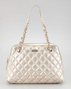 gold coast georgina shoulder bag, gold by kate spade new york at Neiman Marcus. Gold Handbags, Kate Spade Handbags, My Bags, Purses And Bags, New York Logo, Simple Bags, Gold Coast, 5 D, Neiman Marcus