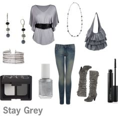 Grey Church Outfit, created by ducksgirl12 on Polyvore