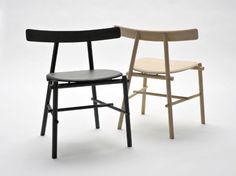 Ronin chair Japanese inspired by Frederik Alexander Werner Wood Chair Design, Design Furniture, Wood Furniture, Side Chairs, Dining Chairs, Design Japonais, 3d Models, Sofa Chair, Eames