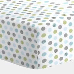 White Lotsa Dots Crib Sheet | Carousel Designs