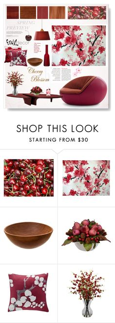 """""""Cherry Blossom"""" by snowbell ❤ liked on Polyvore featuring interior, interiors, interior design, home, home decor, interior decorating, Driade, N Natori, Nearly Natural and Villeroy & Boch"""