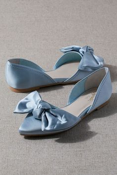 Seychelles Sheila Flats by in Blue Size: at Anthropologie Dr Shoes, Shoes Flats Sandals, Bow Flats, Blue Shoes, Me Too Shoes, Dusty Blue, Wedding Flats, Ivory Wedding, Cute Flats