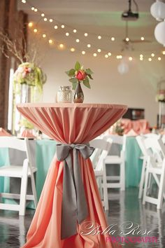 Elegant Coral and Grey Wedding Decorations