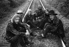 May 5th, 1969, Muscle Shoals, Alabama -- Members of the Allman Brothers Duane Allman, Dickey Betts, Gregg Allman, Jaimo, Berry Oakley, Butch Trucks.