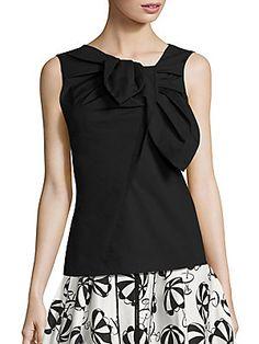 Carolina Herrera Asymmetrical Bow Blouse