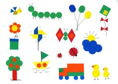 REALIZAMOS DIBUJOS CON GOMETS Math For Kids, Crafts For Kids, Arts And Crafts, Paper Crafts, School Board Decoration, Basic Programming, Teaching Shapes, Math Art, Shape Art