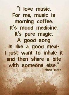 Story of my life!! If I described what music is to me people would look at me crazy.. This is a good way to put it!