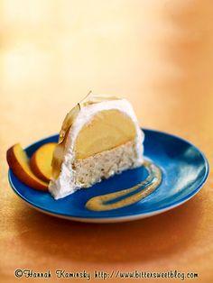 Baked Alaska - peach melba ice cream, rum or brandy, fresh peaches ...