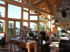 Private, Exclusive Lodge on Woman Lake with Beautiful Views - Longville Great Places, Places To Go, Beautiful Places, Luxury Cabin, Common Area, Lodges, The Great Outdoors, Great Rooms, Minnesota