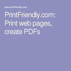 PrintFriendly.com: Print web pages, create PDFs