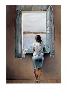 """Girl at the Window"", by spanish painter Salvador Dali"