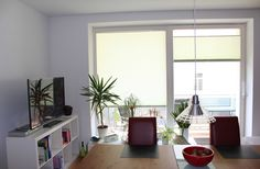 Blendschutz Plissees im Wohnzimmer / pleated blinds in the living room
