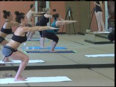 Spring into Shape: Hot Yoga! - Twenty-six postures, two breathing exercises, all done in a heated room with high humidity. It is practiced in a room heated to 105 degrees with humidity of 40%. The 90-minute session is specific, with the same techniques and postures done each time.