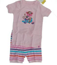 Baby Gap Girls Summer Camp Pajamas PJs 6-12 mos NEW NIP