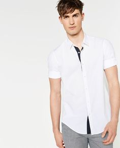 Zara Estive Budget 80 Blouse Camicie Anni Met Mouwophouder Heren Zara gfwrx8Rgq