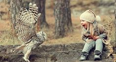 White Wolf : Russian Photographer Captures The Powerful Bond Between Children And Animals (12 Pics)