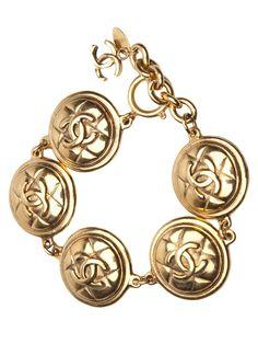 Chanel Vintage Vintage 80S Medallion Bracelet