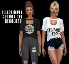 Leo 4 Sims: Cut Out Tee • Sims 4 Downloads
