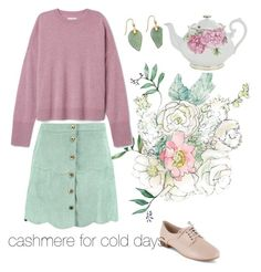 """""""cashmere for cold days"""" by natalyapril1976 ❤ liked on Polyvore featuring Boohoo, Clarks and Royal Albert"""