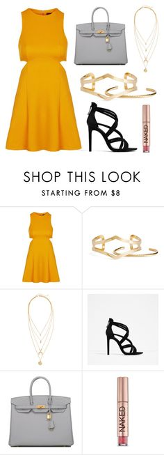 """""""Simple Yet Elegant #5"""" by yanrula on Polyvore featuring Topshop, H&M, Zara, Hermès and Urban Decay"""