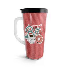 Vasito viajero – Eres mi Bff Café y donut, encuentra este producto en nuestra tienda online. Travel Mug, Bff, Mugs, Tableware, Ideas, Vase, Siempre Contigo, Store, Dinnerware