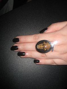Bat skull ring