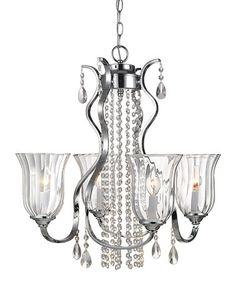 Beaded Four-Light Chandelier #zulily #zulilyfinds