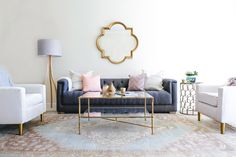 Glam bohemian living room: http://www.stylemepretty.com/living/2016/10/14/this-bachelorette-has-the-winning-combo-for-a-stunning-living-room/ Photography: Monica Wang - http://www.monicawangphotography.com/