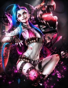 Jinx league of legends fan art Lol League Of Legends, League Of Legends Charaktere, Manga Comics, Wonder Woman Comics, Fan Art, Get Jinx, League Of Legends Personajes, Sakimichan Art, Splash Art