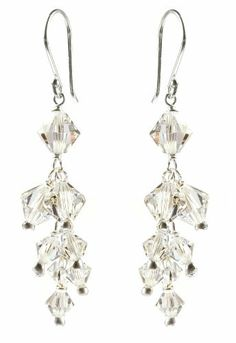Sterling Silver Swarovski Elements Crystal Bicone Cluster Drop Earrings Amazon Curated Collection, http://www.amazon.com/dp/B003ZHUBMM/ref=cm_sw_r_pi_dp_XQWarb1GZRWA4
