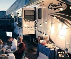 A couple leaves a sq ft home behind to live full time in a RV. Tight budgets meant the RV they wanted wouldnt come without a full fifth wheel remodel. Travel Trailer Camping, Camping Glamping, Camping Ideas, Camping Must Haves, Rv Travel, Camping Hacks, Do It Yourself Camper, Fifth Wheel Living, Rv Makeover