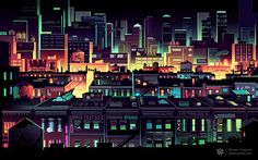 Creative vector graphics of mesmerizing urban architecture and landscape with vivacious coloring pallets Comics Illustration, Illustrations, Graphic Design Illustration, Illustration Styles, Vaporwave Wallpaper, Pixel City, Lego Wallpaper, Apple Wallpaper, Ouvrages D'art