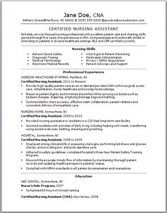 sample nursing resume new graduate nurse see more best resume cna no experience httpjobresumesamplecom713. Resume Example. Resume CV Cover Letter