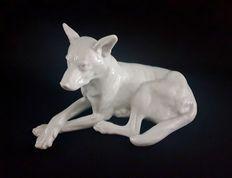 Catawiki online auction house: Herend - German Shaperd Hungary, Lion Sculpture, German, Auction, Porcelain, Statue, House, Art, Deutsch